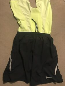 Men's Nike Pro Combat Racing Lined Compression Running Shorts Black Volt Small S $45.00