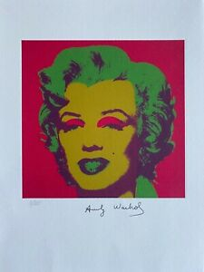 Andy Warhol  Marilyn Monroe 1967. Signed & Numbered Lithograph