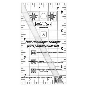 Bloc Loc Half Rectangle Triangle Small Ruler Set $37.95