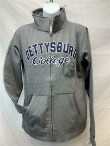 New Gettysburg College Womens Size M Medium Gray J. America Full Zip Jacket $16.99