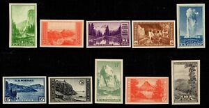 US Stamps: 756 765 Farley National Parks Mint, ORIGINAL GUM CV$114.35 AS NH