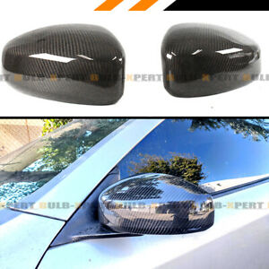 FOR 2003 2007 INFINITI G35 COUPE CARBON FIBER JDM DIRECT ADD ON MIRROR COVER CAP $89.99
