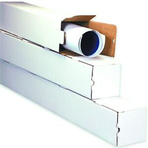 White Square Mailing Tubes Poster Document Blueprints Storage Boxes 1234578 $23.00