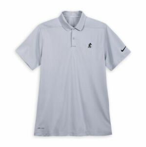 Disney Parks Mickey Mouse Nike Polo For Men Grey Shirt Size Large New $72.95