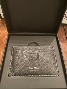 Amex Centurion -NWT- Tom Ford T-line Leather Card Holder Sheep Mouton Leather