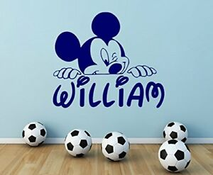 Custom Name Mickey Mouse Wall Decal Personalized Vinyl Sticker Decor
