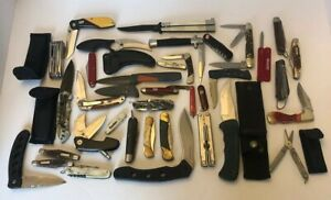 Lot Of 37 Pocket Knives  Miscellaneous