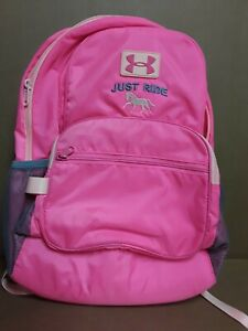 Under Armour UA Just Ride Womens kids Pink Backpack School Gym Workout Bag $28.00