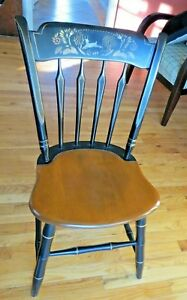 Vintage Ethan Allen Thumb Back chair. Wood Hitchcock chair Local Pick Up Only