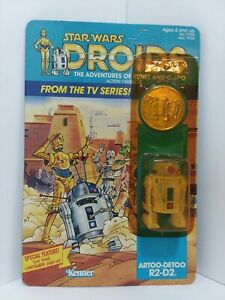 1985 VINTAGE STAR WARS DROIDS R2-D2 ARTOO-DETOO FACTORY SEALED
