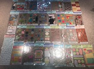 LOT of 45 AMERICAN GREETINGS Creative Touch SCRAPBOOK Stickers NEW  $15.95