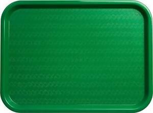 Serving Trays Green Plastic Fast Food Tray, 12 By 16-Inch, Set Of 12