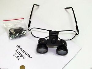 Brand BEXCO Dental Medical Surgical Optical Binocular Loupe 2.5X With Case