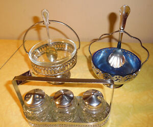 CONDIMENT SERVING DISHES LOT OF THREE $19.99