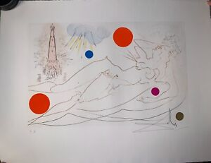 quot;Water Towerquot; Hand Signed By Salvador Dali Etching from Chicago series $11399.00
