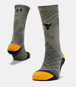 New UA x Project Rock Stance Rock Crew Men's Socks XL UNDER ARMOUR $19.97