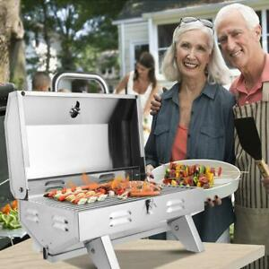 Outdoor Stainless Steel Burner Propane Gas Cooker Camp Stove Grill Picnic BBQ