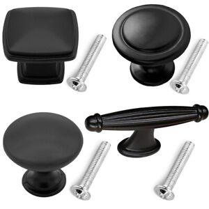 10 50 Knob Handle Pulls Matte Black Collection Kitchen Bathroom Cabinet Hardware