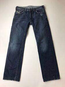 DIESEL Yarik B Wash 0071S Dark Straight Fit Jeans Button Fly Actual 32 X 33