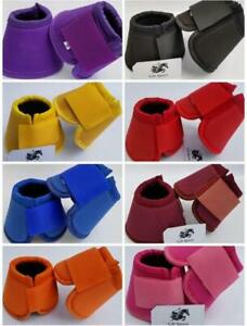 Horse Bell Boots Over Reach No Turn Bell Wrap All sizes Tack Protection Equine $16.99