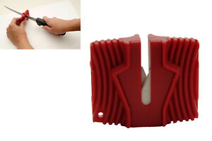GROOVED CERAMIC SHARPENER BAR KITCHEN SWORD KNIVES KNIFE TOOL GADGET HAND HELD