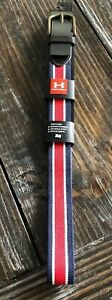 UNDER ARMOUR UA PERFORMANCE STRETCH GOLF BELT RED WHITE BLUE 1296404 409 Size 38 $30.00