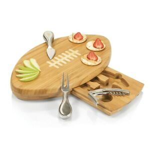 Picnic Time-Quarterback Bamboo Cutting Board With Tools
