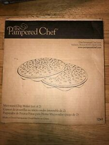 Pampered Chef Microwave Chip Maker set of 2 new in box 1241