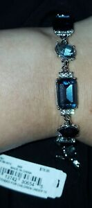 Givenchy Silver Tone shade of blue Crystal Bracelet. $78 $39.99