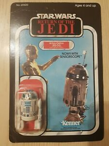 Star Wars Vintage Kenner R2-D2 Sensorscope ROTJ 65 Back Unpunched Return Jedi