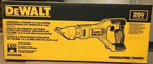 DEWALT DCS494B 20V CORDLESS 14 Gauge SWIVEL HEAD DOUBLE CUT SHEAR