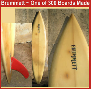 Surfboard Designs by Billy Brummett Solana Beach 1 of 300 surf boards made RARE
