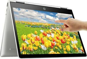 NEW HP 2 in 1 14quot; TOUCHSCREEN Intel Quad Core 2.7GHz 128GB SSD 4GB RAM Chrome $434.99