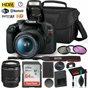 Canon Rebel T7 DSLR Camera with 18 55mm Lens Kit and Sandisk 64GB Ultra Speed