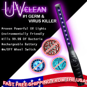 UV Wand Portable STERILIZE LED UV C Light GERMICIDAL Home Handheld Disinfection $29.95