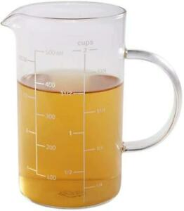 Glass Measuring Cup Kitchen Restaurant Food Chef Home Easy Read 500 ML Best NEW