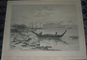 Seal Hunting Antique Lithograph James Fagan Listed Artist