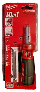 10 in 1 Square Multi-Bit Screwdriver Milwaukee 48-22-2102 New ~ FREE SHIPPING