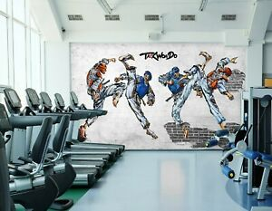 3D Martial Arts 035NAO Business Wallpaper Wall Mural Self adhesive Commerce Amy