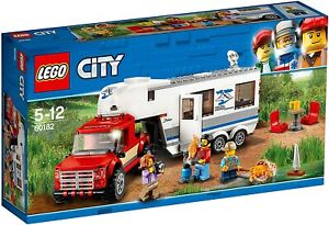 Lego City Town 60182 PICKUP AND CARAVAN Pick Up Truck Trailer Camping Net NISB