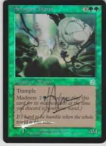 MTG Foil 1X Arrogant Wurm X1 Signed Torment Magic LP
