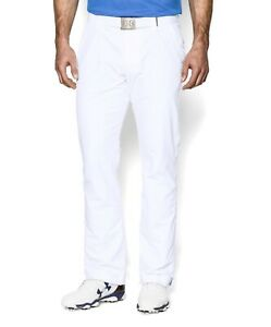 UNDER ARMOUR Mens White UA Loose Tapered Golf Pants NWT 38x30 $80 1253492 $60.00