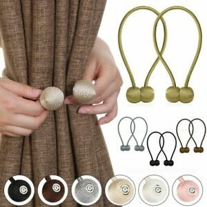 Magnetic Ball Curtain Tie Buckle Holder Tieback Clips Home Window Accessories