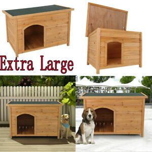 Dog House Pet Wood Outdoor Shelter Extra Large Weather Home Resistant Log Cabin $143.99