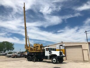 "Texoma Auger 600-35 pressure digger 400 hrs. 6x6 military chassis CLEAN 37'9""X3"""