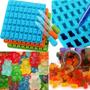 50 Cavity Silicone Mold Bear Gummy  Candy Chocolate Maker Jelly Dropper Ice Tray