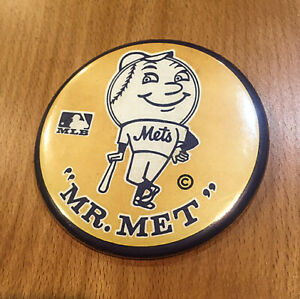 Mr. Met New York Mets MLB Vintage Baseball Button with pin 3quot; $6.99