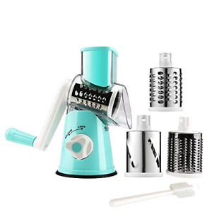 Manual Rotary Cheese Grater Round Vegetable Potato Carrot Mandoline Slicer Nuts