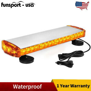 38W Amber Rooftop LED Strobe Light Waterproof Car Emergency Warning Flash 12 24V
