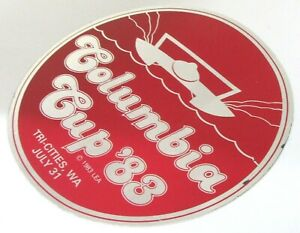 1983 COLUMBIA CUP Tri Cities Hydroplane boat racing LARGE 4.75 sticker c3 $9.99